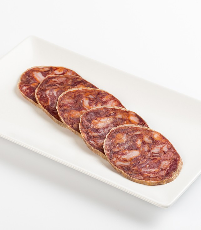 Chorizo cular ibérico corte